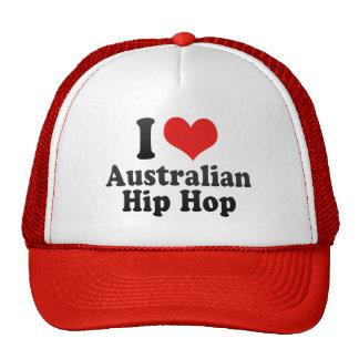 I Love Australian+Hip Hop Mesh Hat