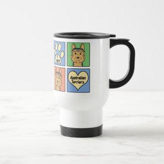 I Love Australian Terriers Stainless Steel Travel Mug