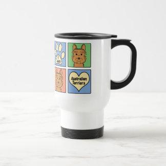I Love Australian Terriers Travel Mug