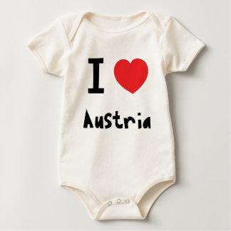 I love Austria Baby Bodysuit