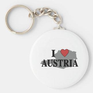 I Love Austria Basic Round Button Key Ring