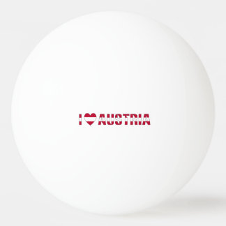 I Love Austria Ping Pong Ball