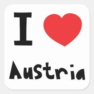 I love Austria Square Sticker