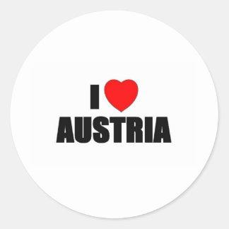 I Love Austria Round Sticker