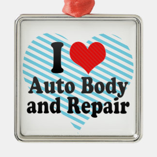 I Love Auto Body and Repair Christmas Ornament