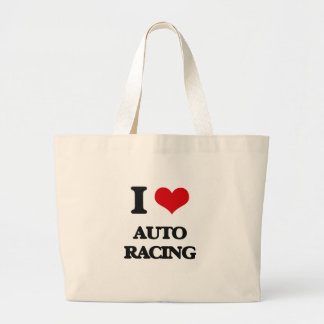 I Love Auto Racing Tote Bag