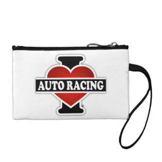 I Love Auto Racing Coin Wallet