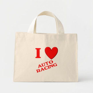 I Love Auto Racing Tote Bags