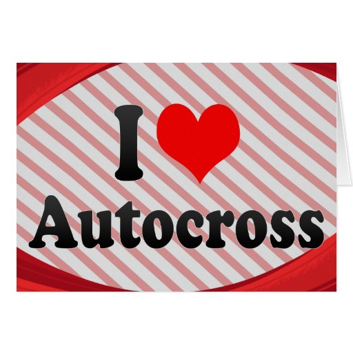 I love Autocross Stationery Note Card