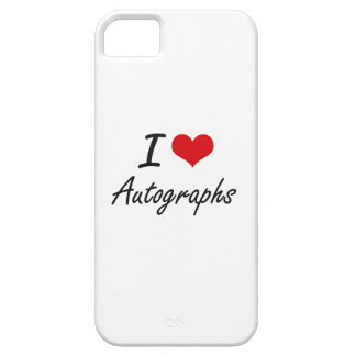 I Love Autographs Artistic Design Case For The iPhone 5