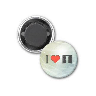 I Love Automatic Door 3 Cm Round Magnet