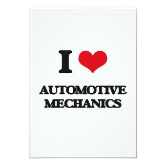 I love Automotive Mechanics 13 Cm X 18 Cm Invitation Card