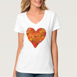 I Love Autumn—Red Aspen Leaf Heart 1 T-Shirt