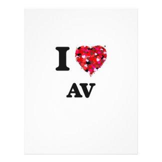 I Love Av 21.5 Cm X 28 Cm Flyer