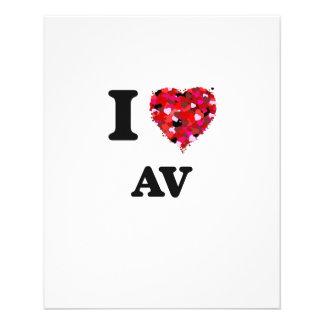 I Love Av 11.5 Cm X 14 Cm Flyer