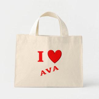 I Love Ava Tote Bags