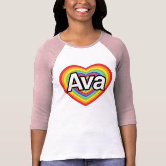 I love Ava, rainbow heart T-Shirt