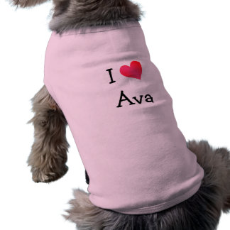 I Love Ava Sleeveless Dog Shirt
