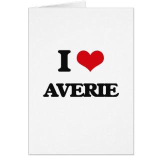 I Love Averie Greeting Card