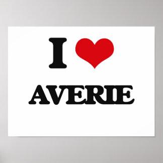 I Love Averie Poster
