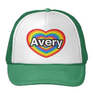 I love Avery. I love you Avery. Heart Mesh Hats