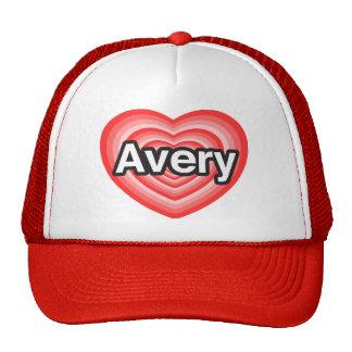 I love Avery I love you Avery Heart Mesh Hats
