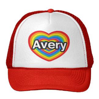 I love Avery. I love you Avery. Heart Mesh Hat