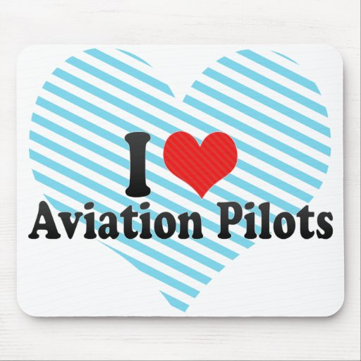 I Love Aviation Pilots Mouse Pad