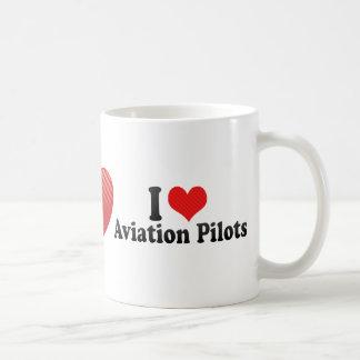 I Love Aviation Pilots Mugs