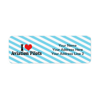 I Love Aviation Pilots Return Address Label