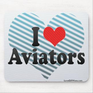 I Love Aviators Mousepad