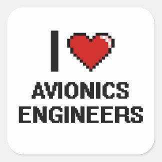 I love Avionics Engineers Square Sticker