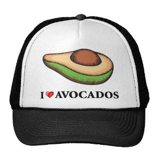 I Love Avocados Hats
