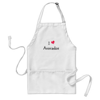 I Love Avocados Standard Apron