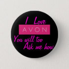 I LOVE Avon 6 Cm Round Badge