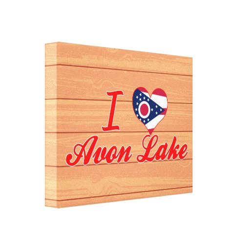 I Love Avon Lake, Ohio Canvas Print