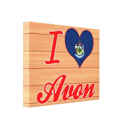 I Love Avon, Maine Stretched Canvas Print