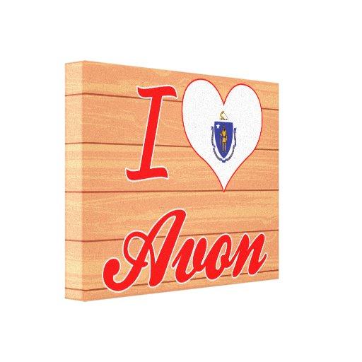 I Love Avon, Massachusetts Canvas Print