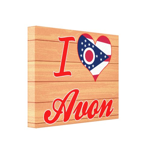 I Love Avon, Ohio Stretched Canvas Prints