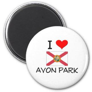 I Love AVON PARK Florida 6 Cm Round Magnet