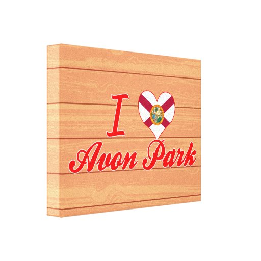 I Love Avon Park, Florida Canvas Prints