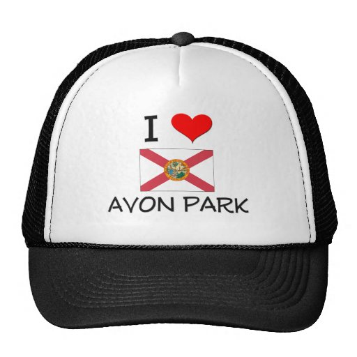 I Love AVON PARK Florida Mesh Hats