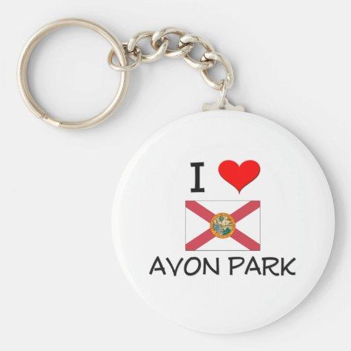 I Love AVON PARK Florida Key Chain