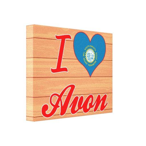 I Love Avon, South Dakota Gallery Wrap Canvas