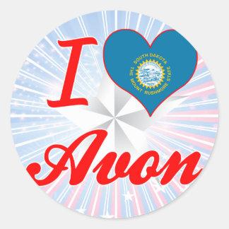 I Love Avon, South Dakota Round Stickers