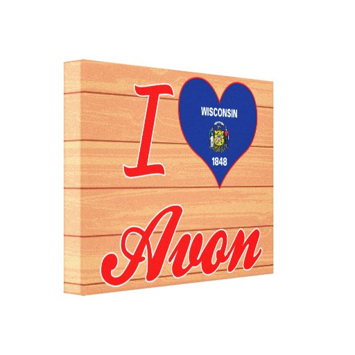 I Love Avon, Wisconsin Gallery Wrapped Canvas