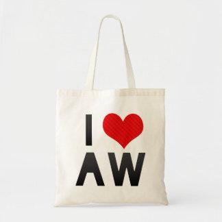 I Love AW Tote Bag