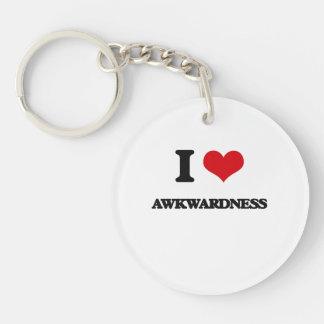 I Love Awkwardness Acrylic Keychain