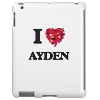 I Love Ayden iPad Case