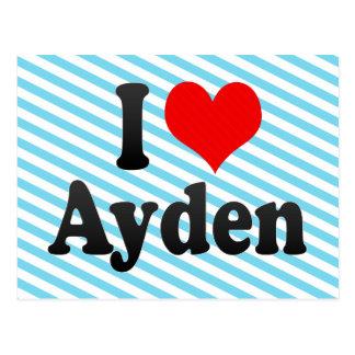 I love Ayden Postcard